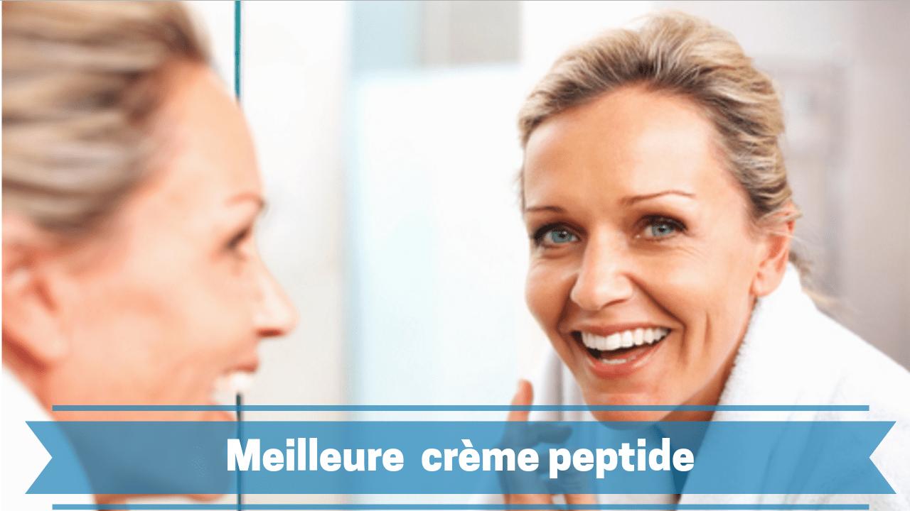 meilleure crème peptide