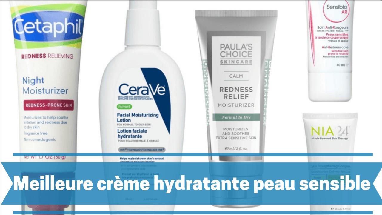 Photo de Meilleure crème hydratante peau sensible 2019/2020 – comparatif des prix et guide d'achat