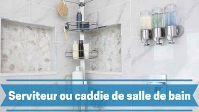 Photo de Caddie ou serviteur de douche, le produit qu'il vous fait pour un rangement optimal de votre salle de bain