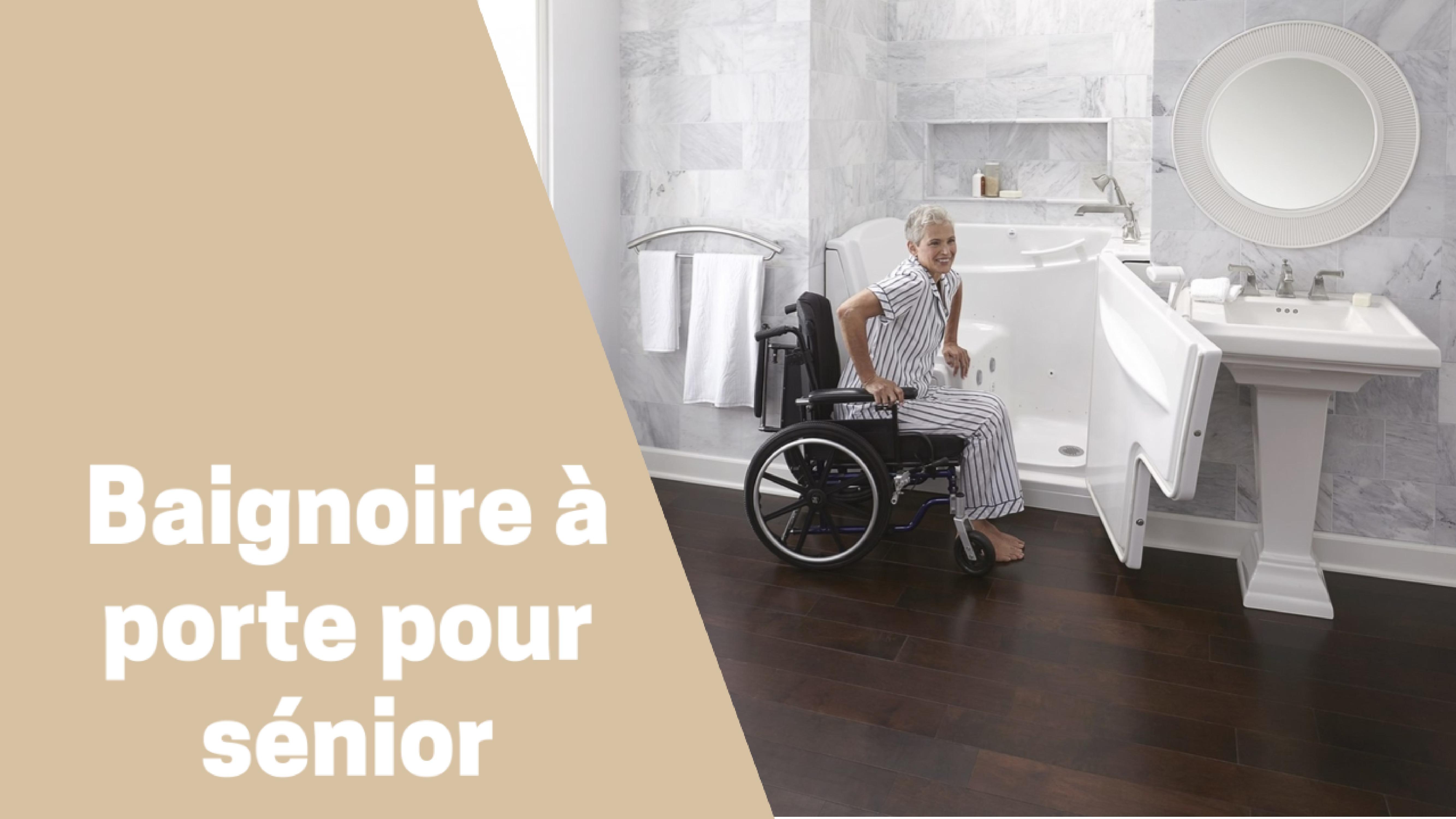 Photo de Aidez les personnes âgées ou à mobilité réduite en choisissant la meilleure baignoire à porte