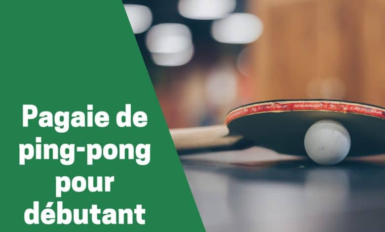 Selection des meilleures pagaies de ping pong ou tennis de table pour débutant comparatif guide achat avis test