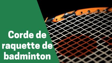 Photo de Zoom sur les cordages de raquette de badminton
