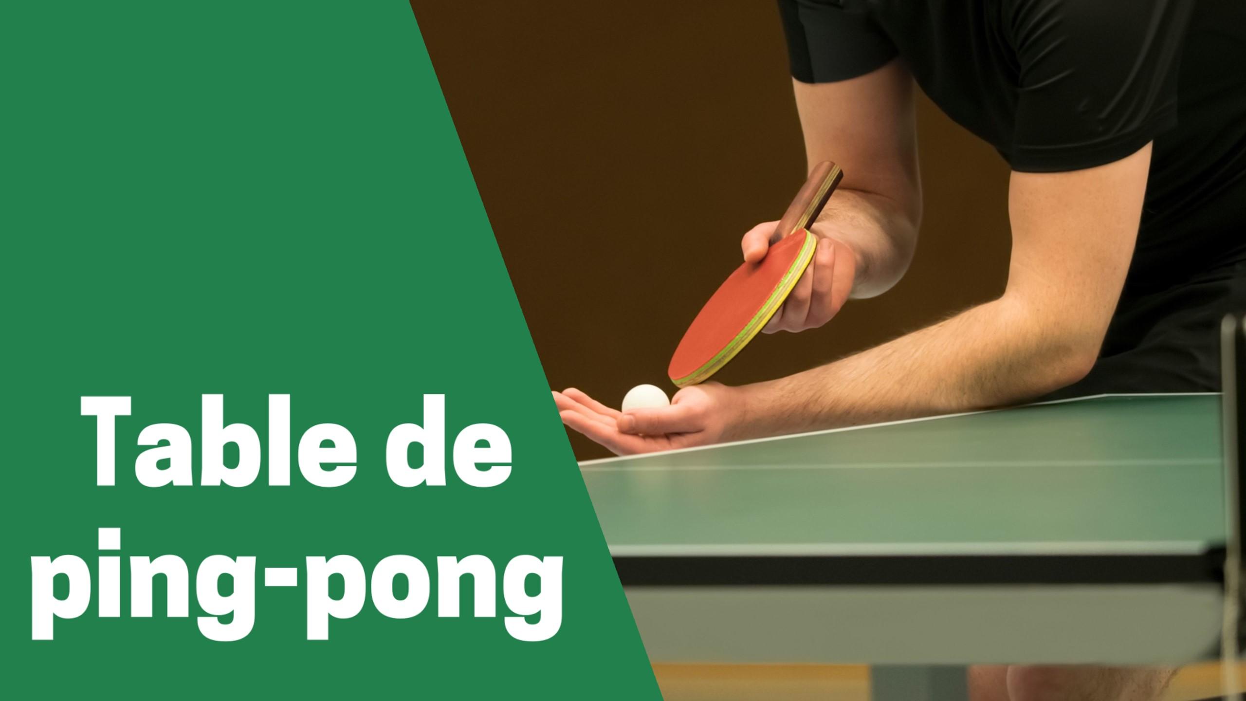 Selection des meilleurs tables de ping pong ou tennis de table comparatif guide achat avis test