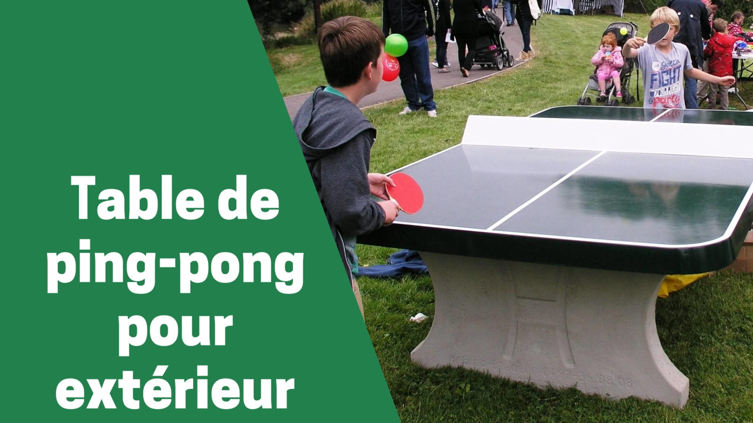 Photo de Zoom sur les 5 tables de ping-pong d'extérieur les plus performantes en 2020